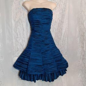 Jessica McClintock Strapless Blue Party Prom Dress